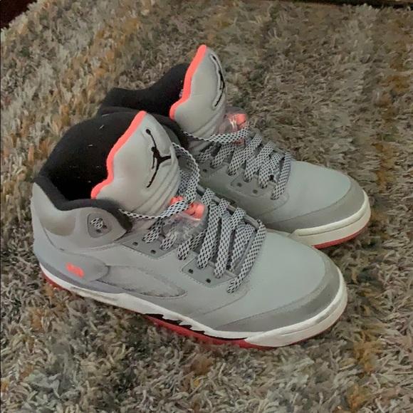 Air Jordan Shoes Black White Pink 5 Retro Gg Sz 5y Poshmark